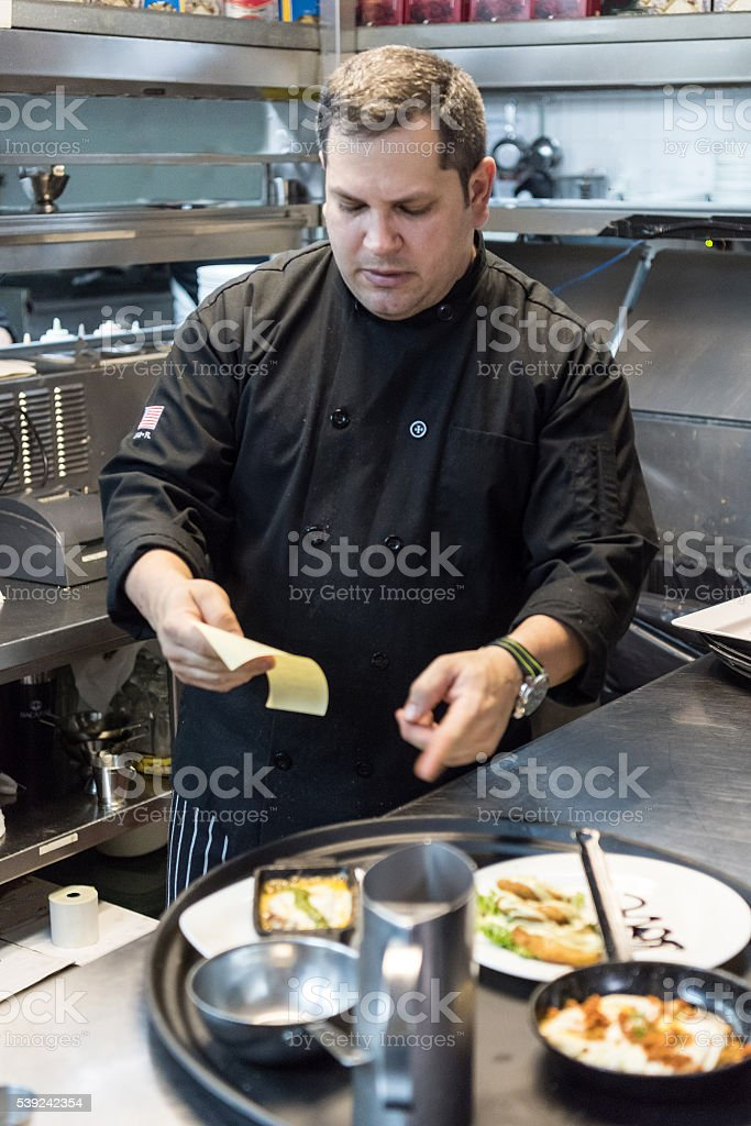 Chef at his Kitchen royalty-free stock photo