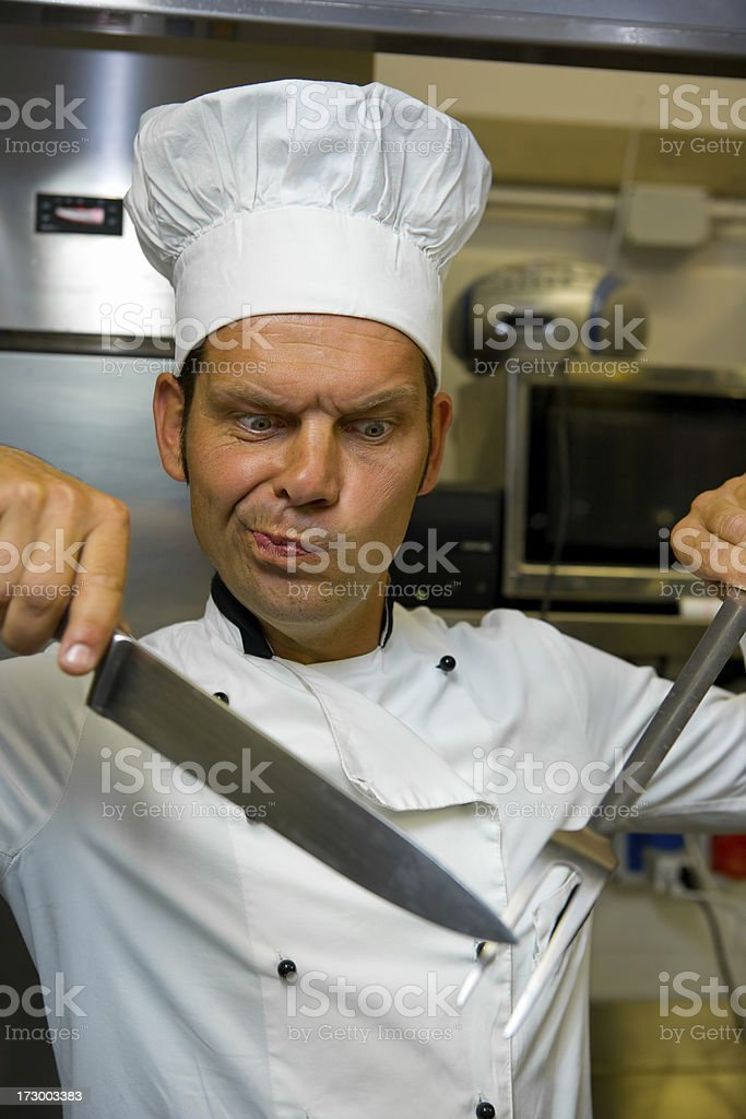 chef at work royalty-free stock photo