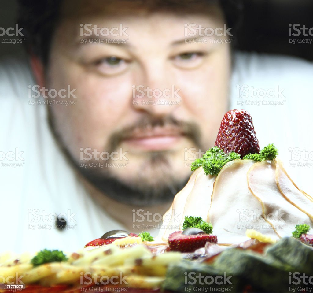 Chef at work. royalty-free stock photo