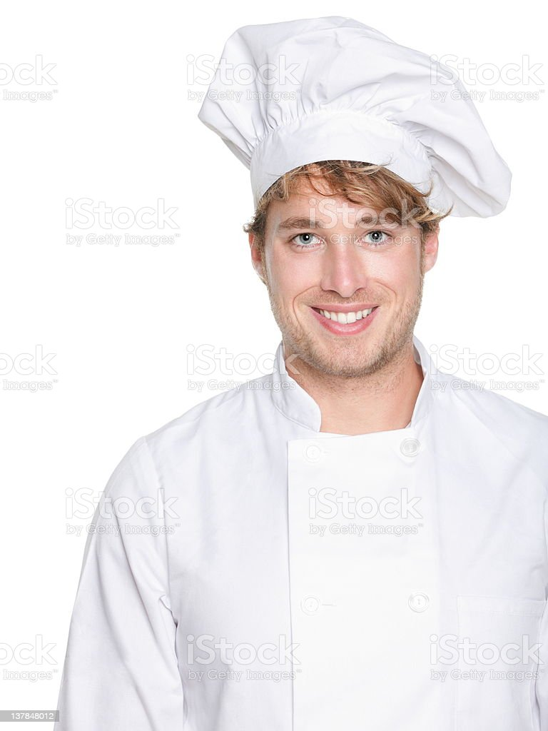 Chef, baker or male cook royalty-free stock photo