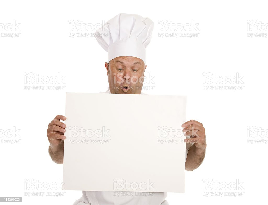 Chef Blank Card royalty-free stock photo