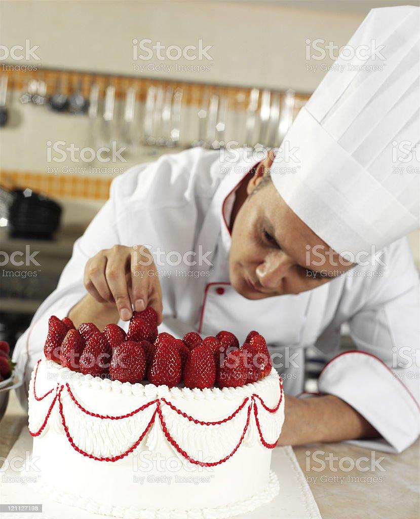 Chefkoch Abschluss Kuchen Stock Fotografie Und Mehr Bilder Von