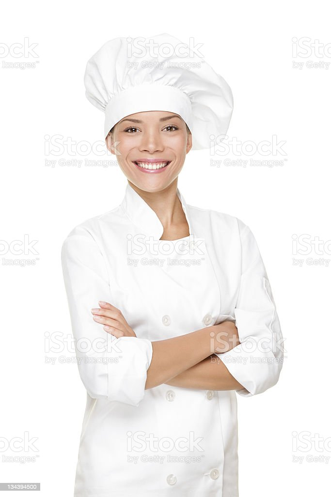 Chef, cook or baker woman stock photo