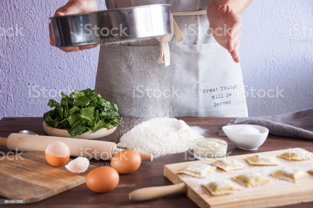 Chef cooking bakery stock photo