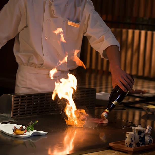 teppanyaki - teppan yaki grill stock-fotos und bilder