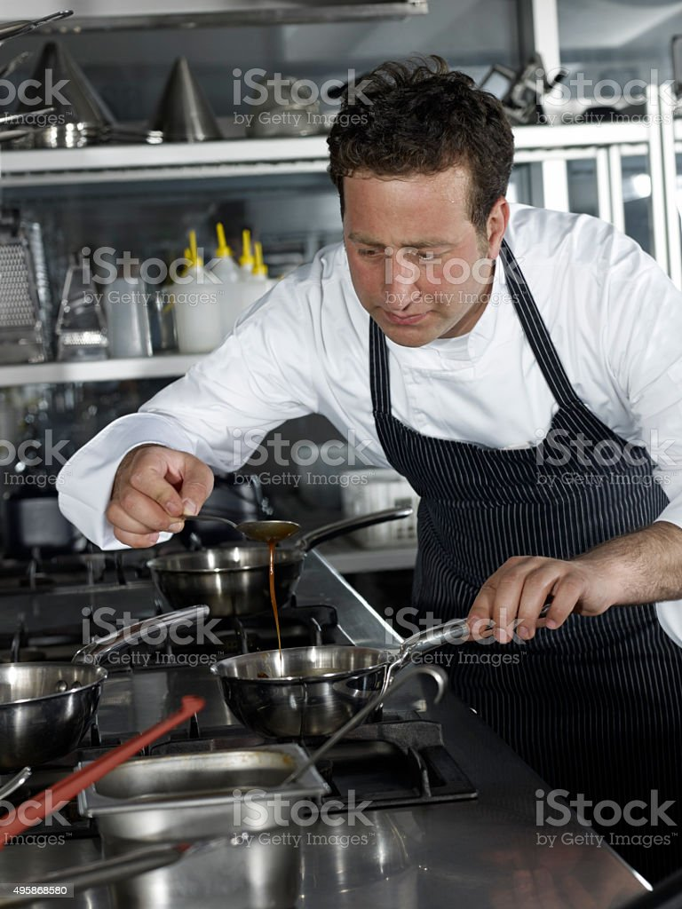 Chef Cooking stock photo
