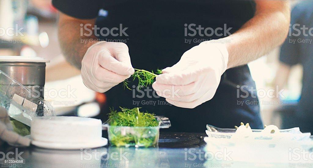 Chef de terminer un repas. - Photo