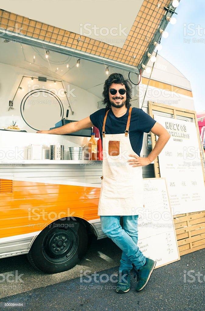 Chef Food Track stock photo