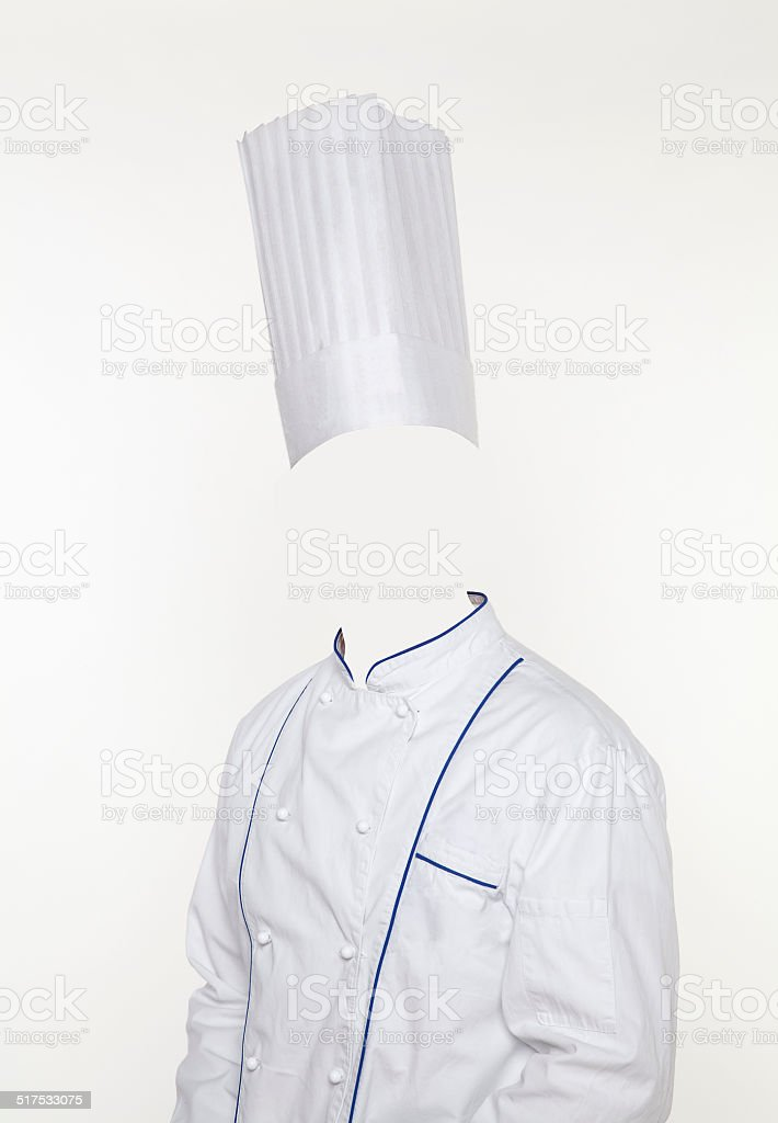 Chef hat and jacket stock photo