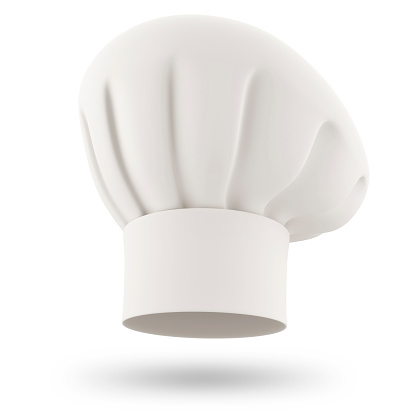 chef hat isolated on white