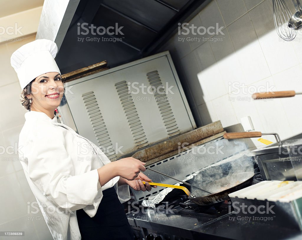 Chef in action royalty-free stock photo