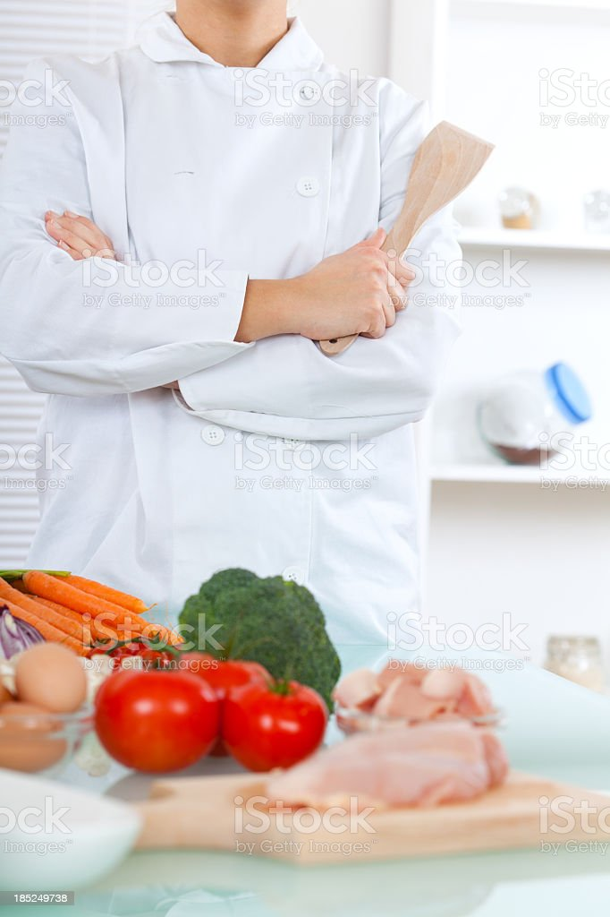 Chef in the kitchen royalty-free stock photo