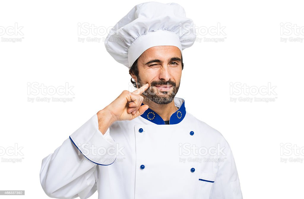 Chef isolated on white stock photo