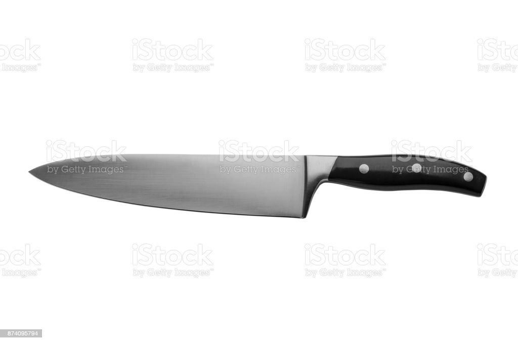 Chef Knife Stock Photo