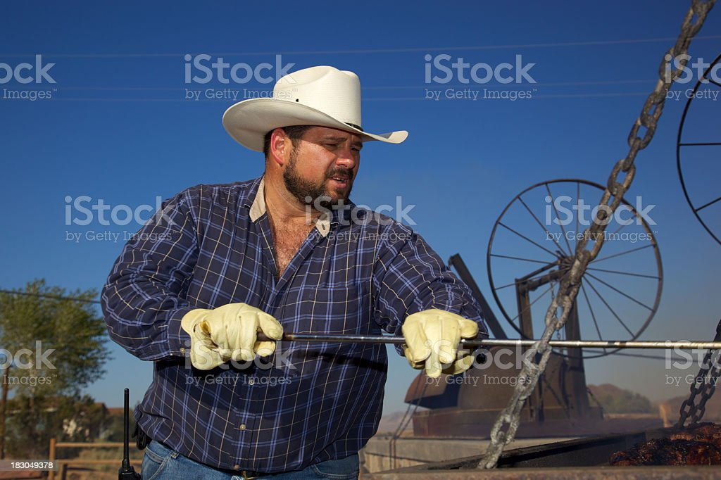 BBQ Chef of Beef royalty-free stock photo