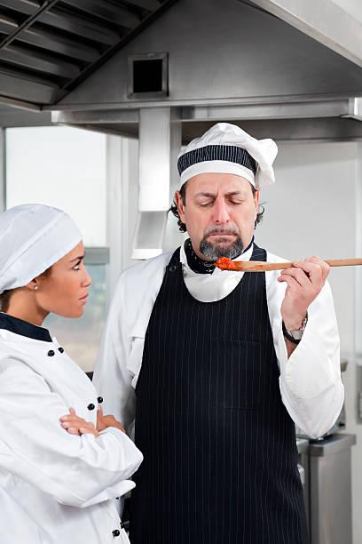 lo chef - chef triste foto e immagini stock