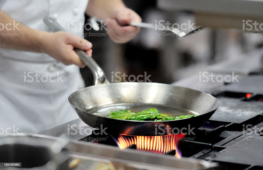 Chef preparing a meal royalty-free stock photo