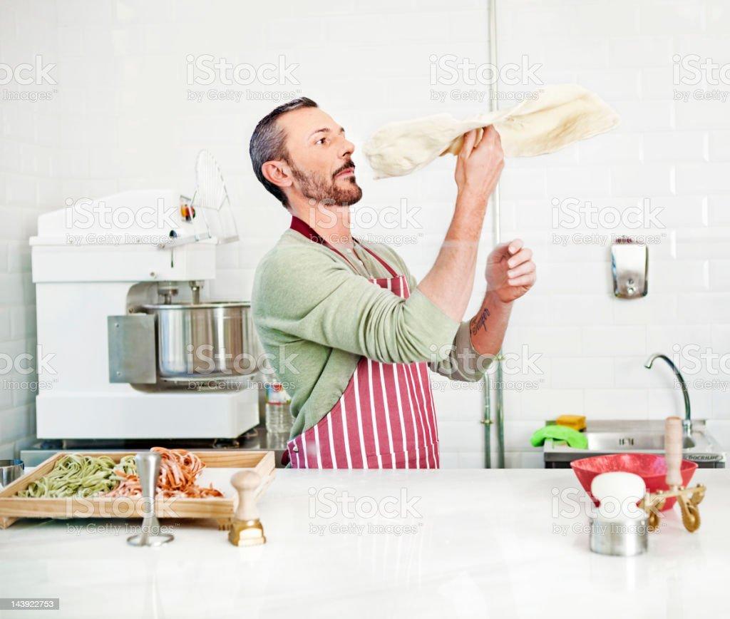 Le Chef préparer une pizza - Photo