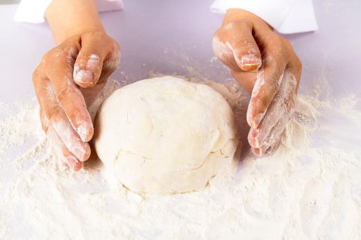 istock Chef preparing dough - cooking process 837484448