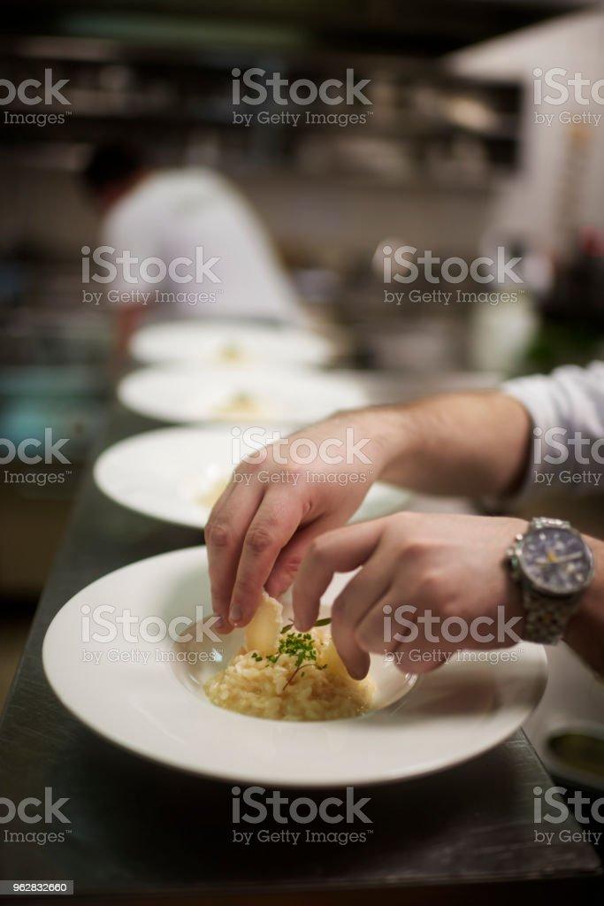 Chef preparing food - Foto stock royalty-free di Abilità