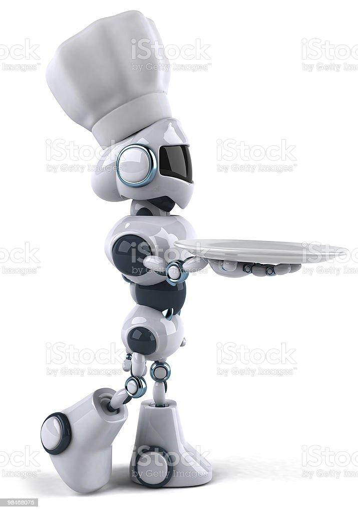 Lo chef robot foto stock royalty-free