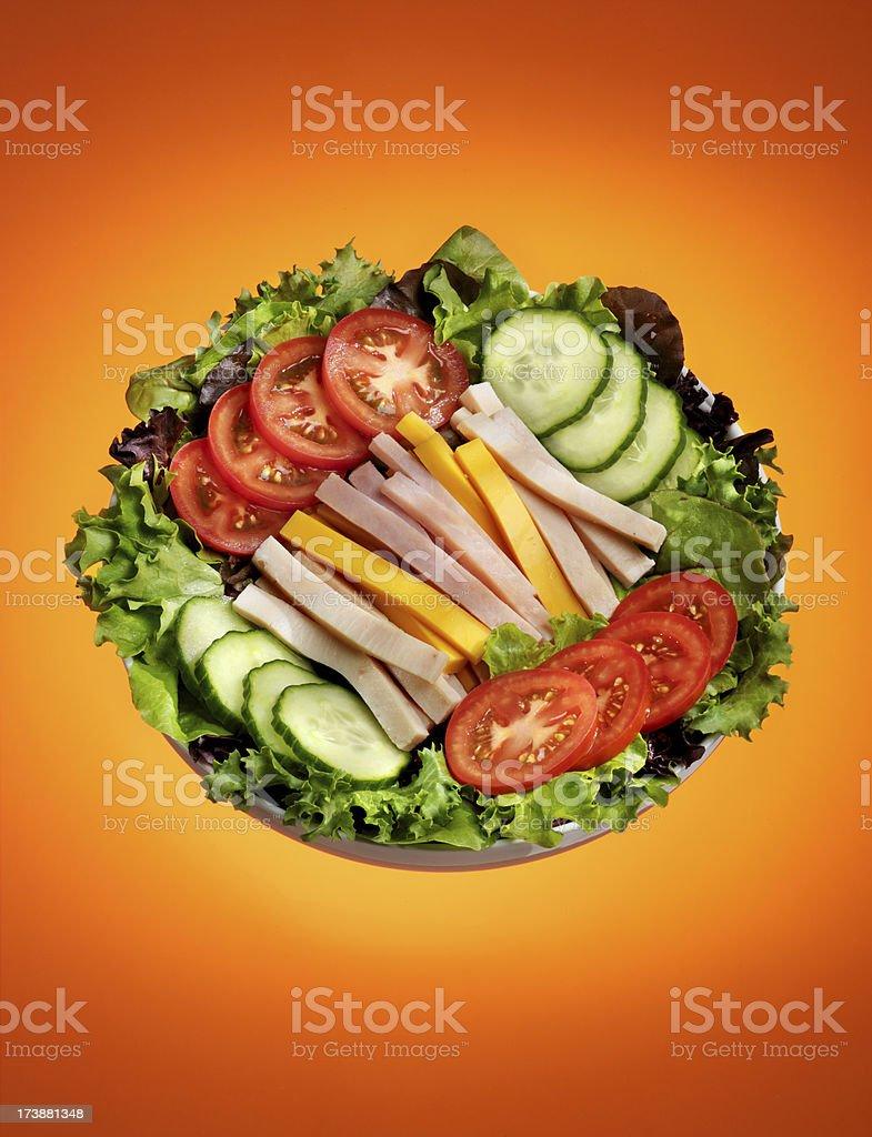 Chef Salad, Isolated stock photo
