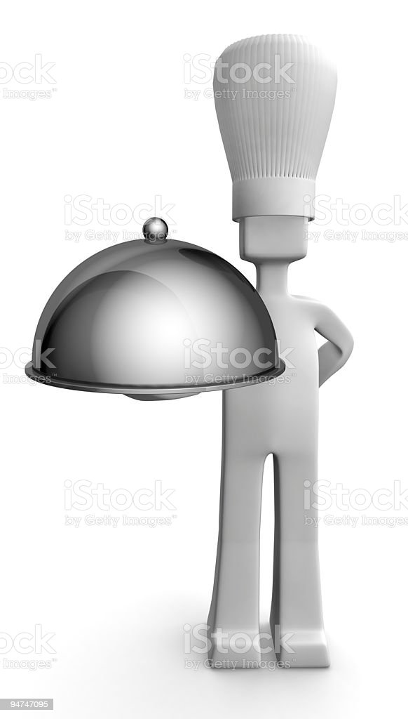Chef serving guest concept royalty-free stock photo