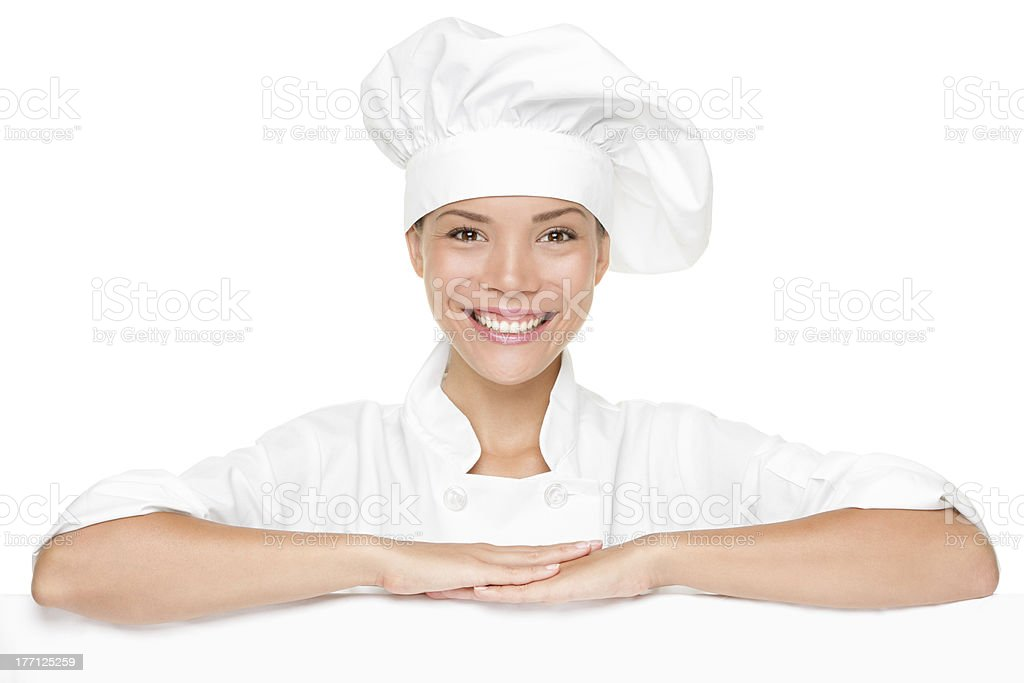 Chef sign blank stock photo