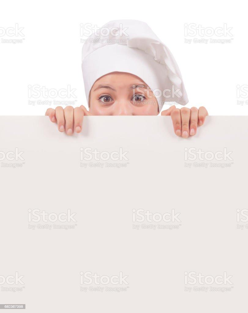 Chef-kok teken royalty free stockfoto