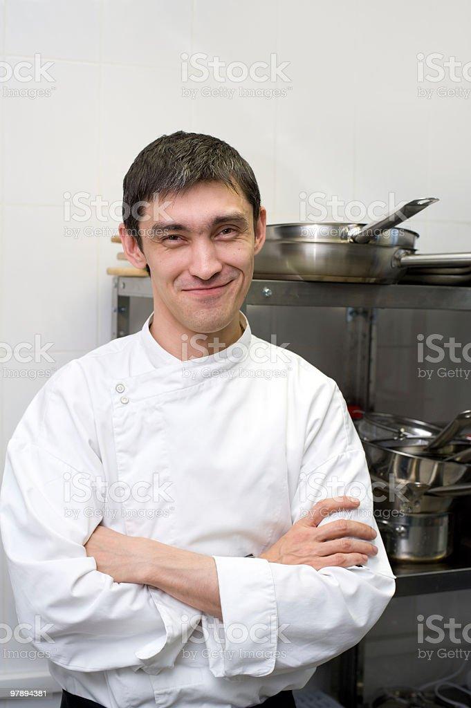 chef smiles into camera royalty-free stock photo