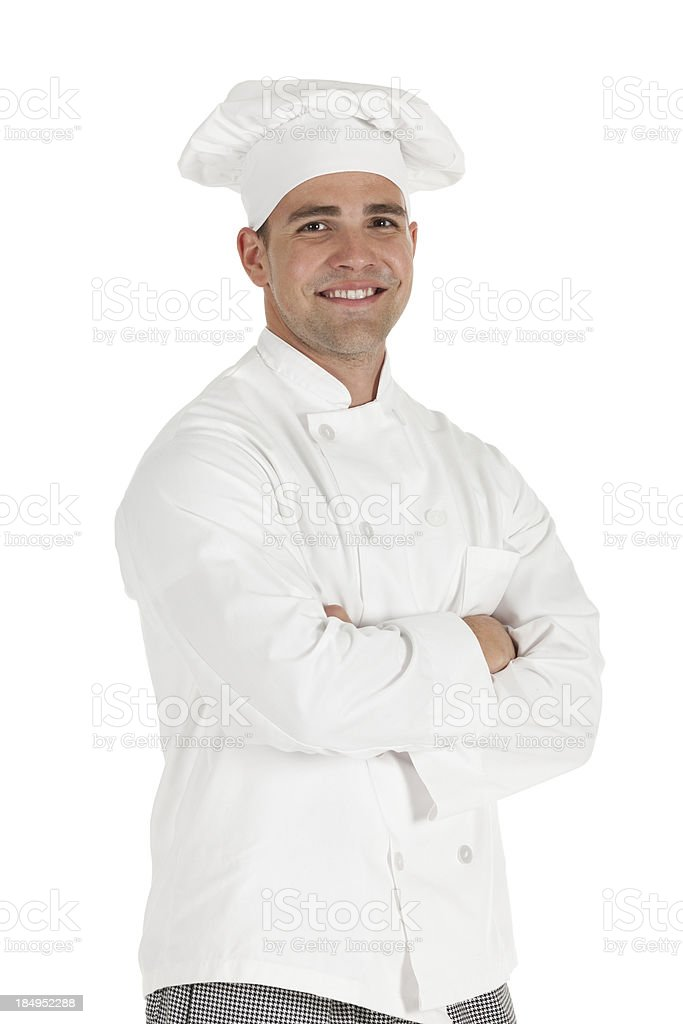 Chef standing with arms crossed royalty-free stock photo