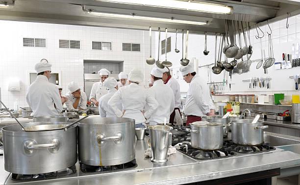 chef students in cooking class xxl image - kvinna ventilationssystem bildbanksfoton och bilder
