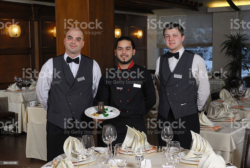 chef team royalty-free stock photo