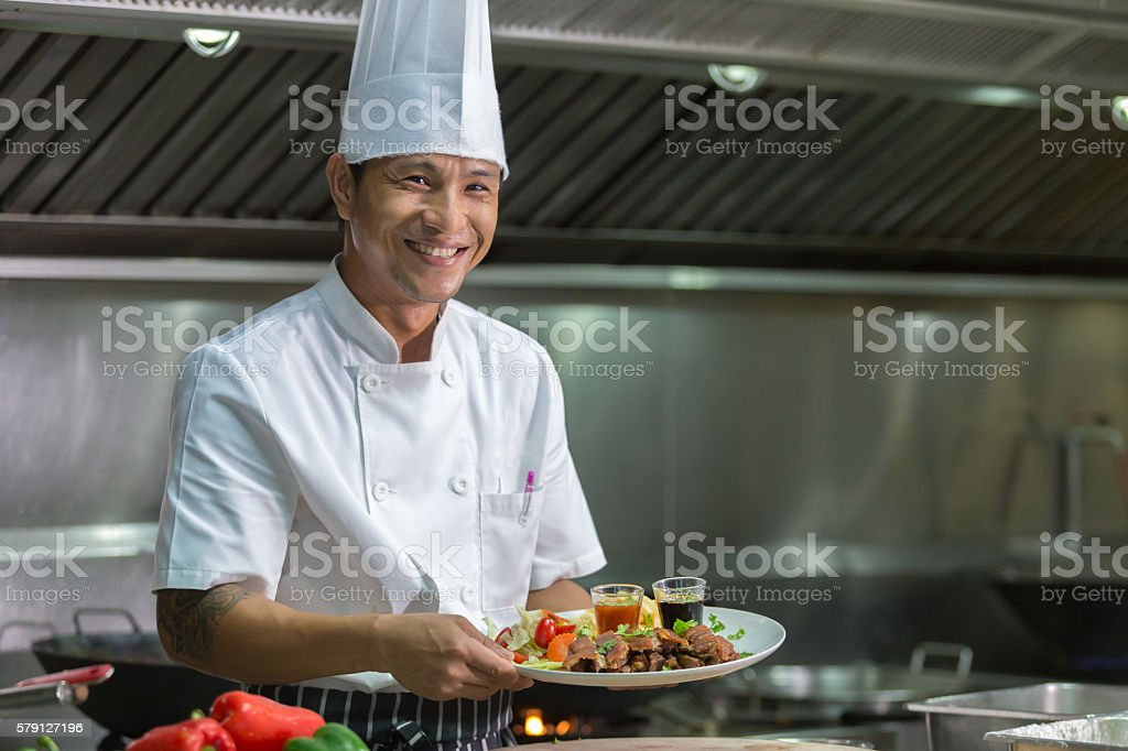 Chef Thailand stock photo