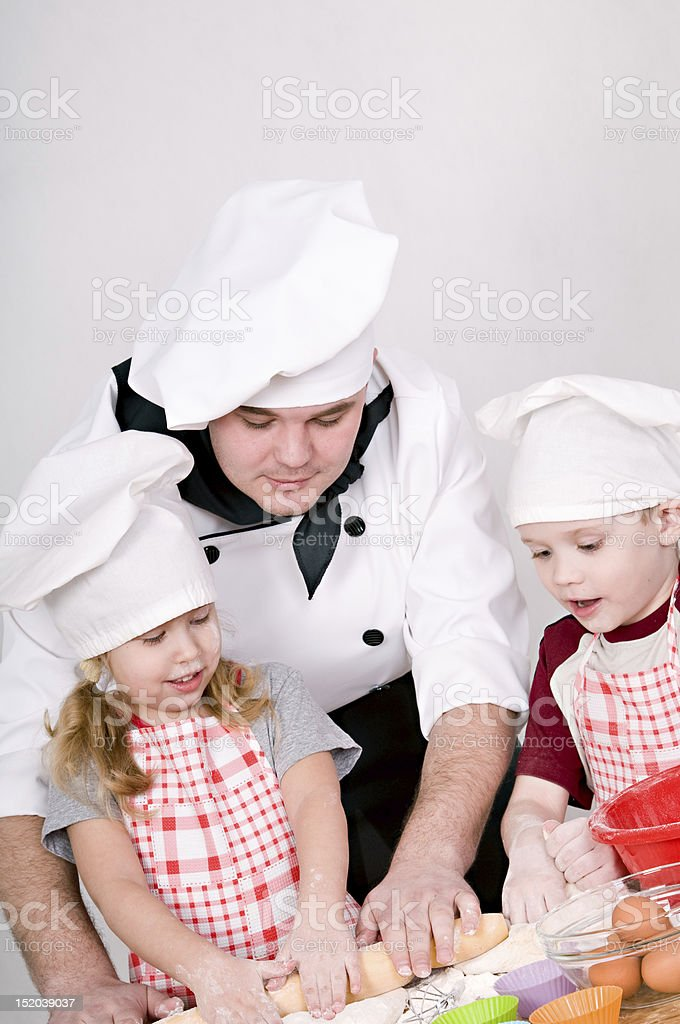 chef with children royalty-free stock photo