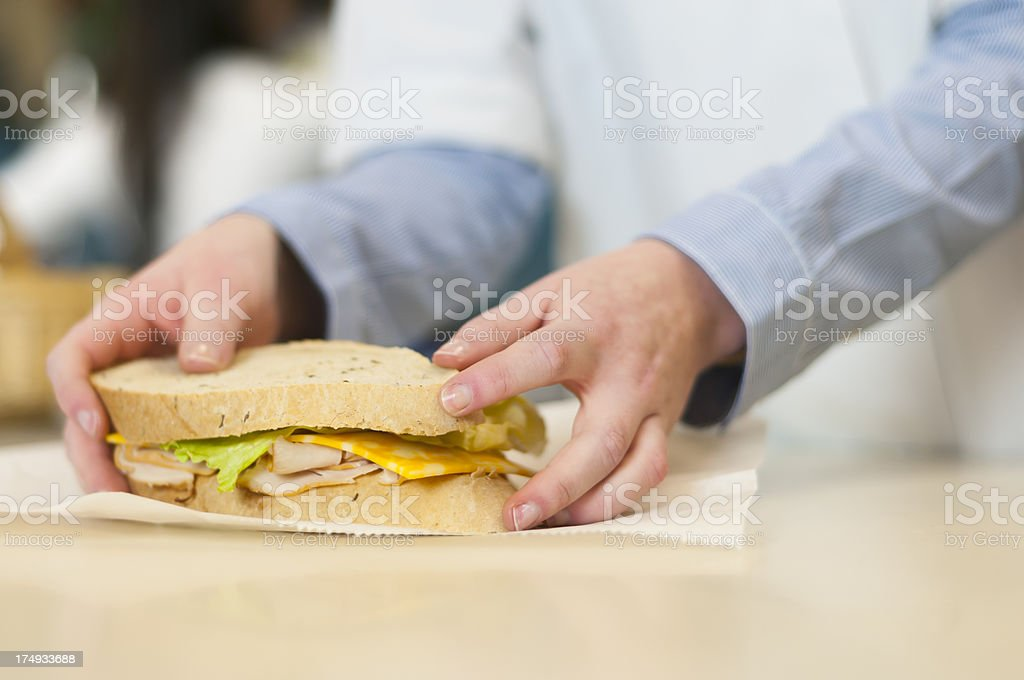 Chef with Sandwich stock photo