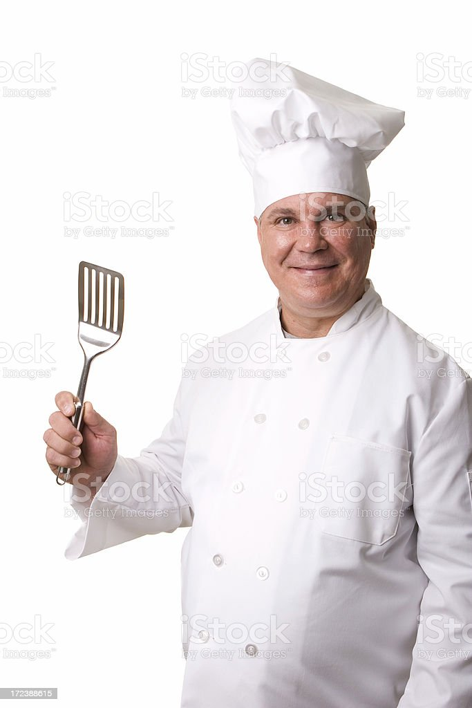 Chef with spatula royalty-free stock photo