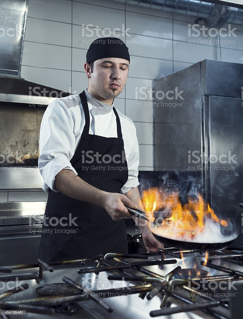 Chef Working royalty-free stock photo