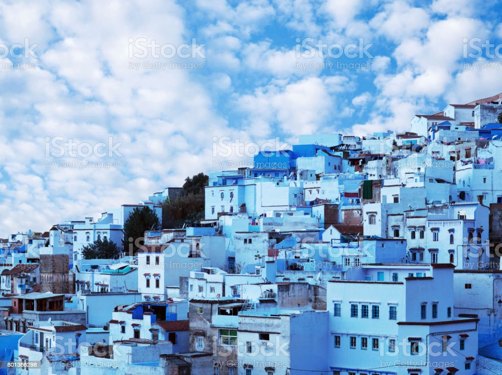 Chefchaouen blue medina in Morocco, Africa stock photo