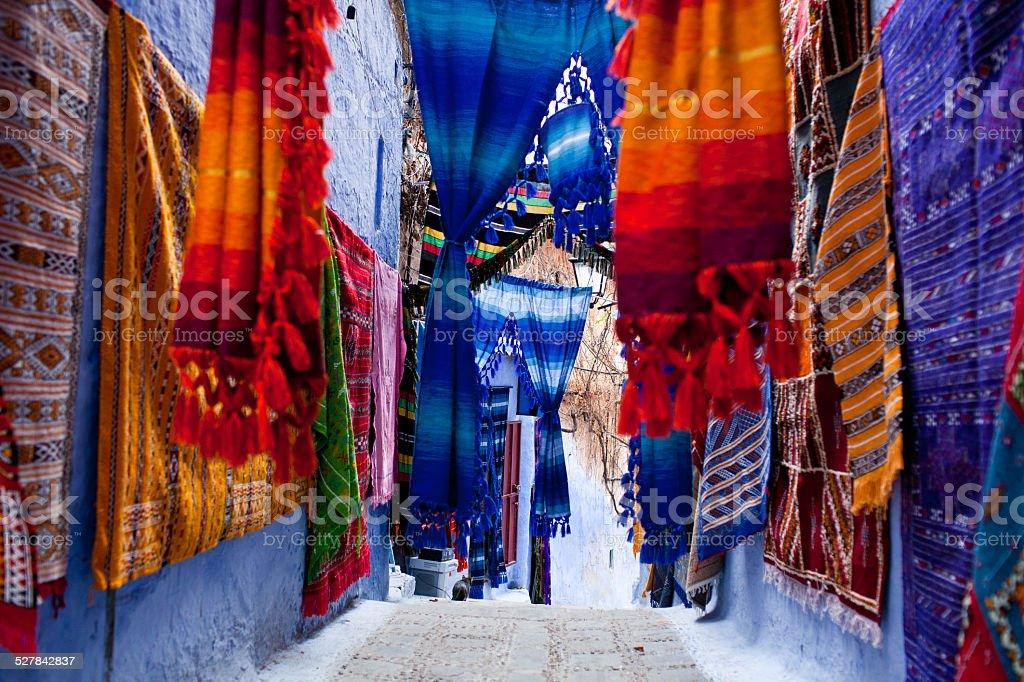 Chefchaouen Medina, Morocco stock photo
