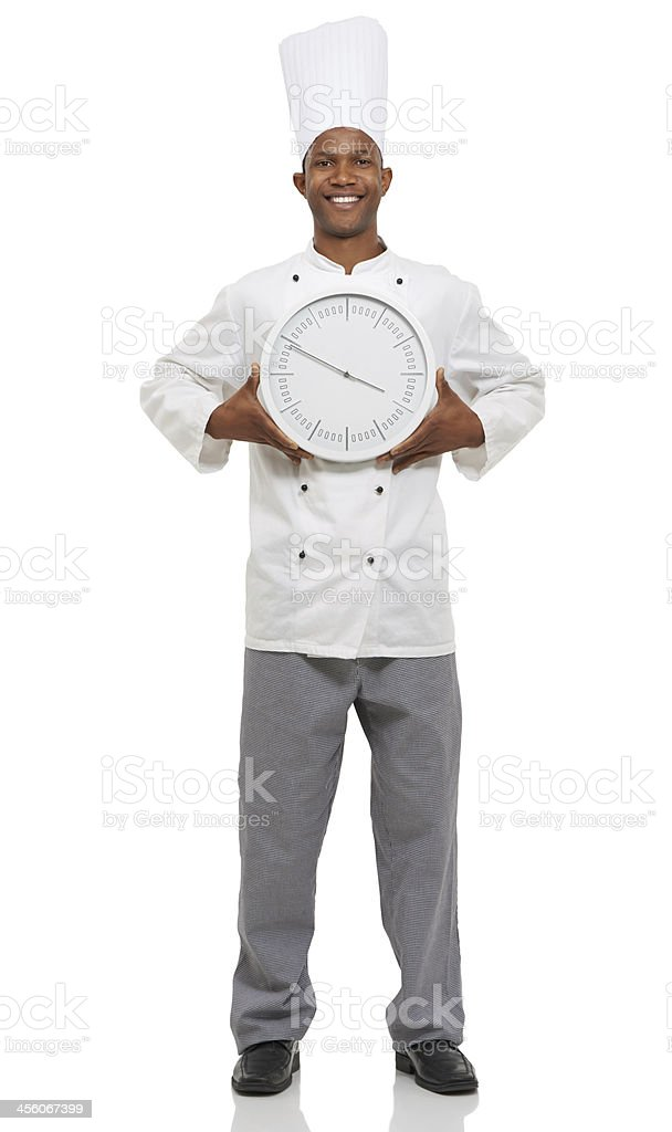 Chefs are always on the clock royalty-free stock photo