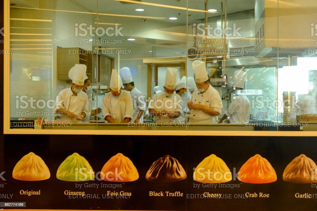 Chefs at Work, Bangkok, Thailand stock photo