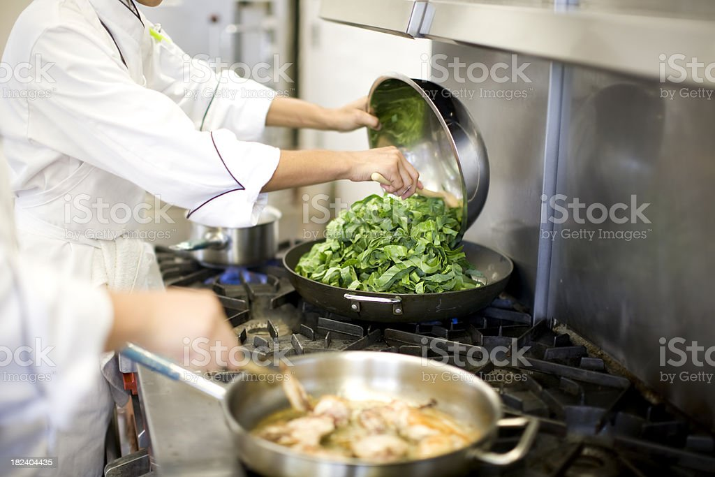 Chefs at Work royalty-free stock photo