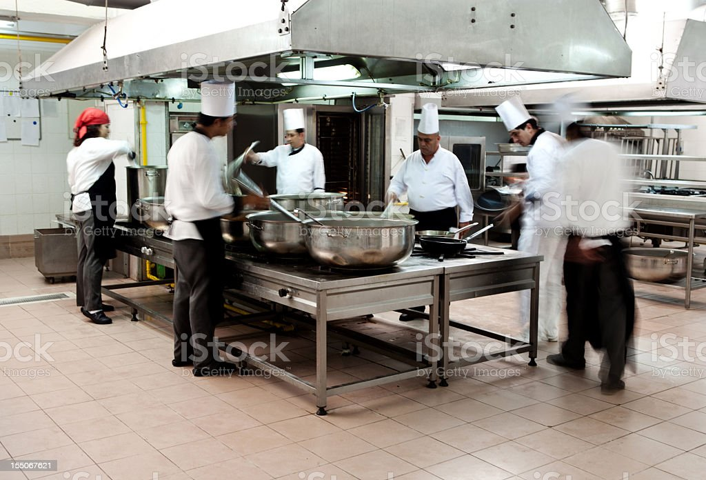 Chefs cooking royalty-free stock photo