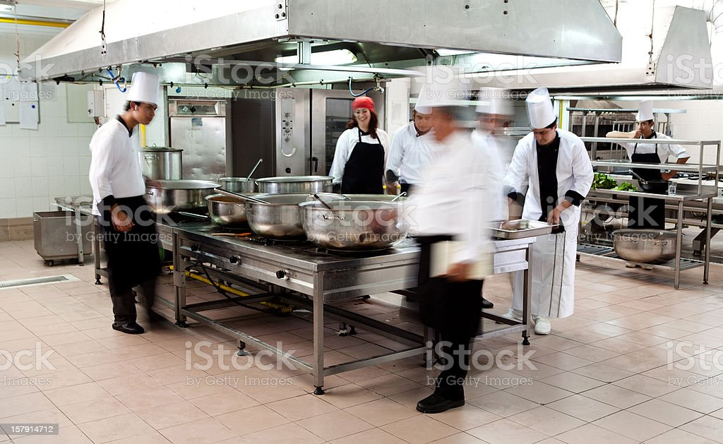 Chefs cooking stock photo