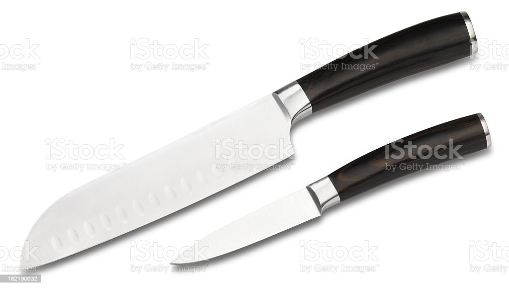 Chefs Cutlery knifes isolated royalty-free stock photo