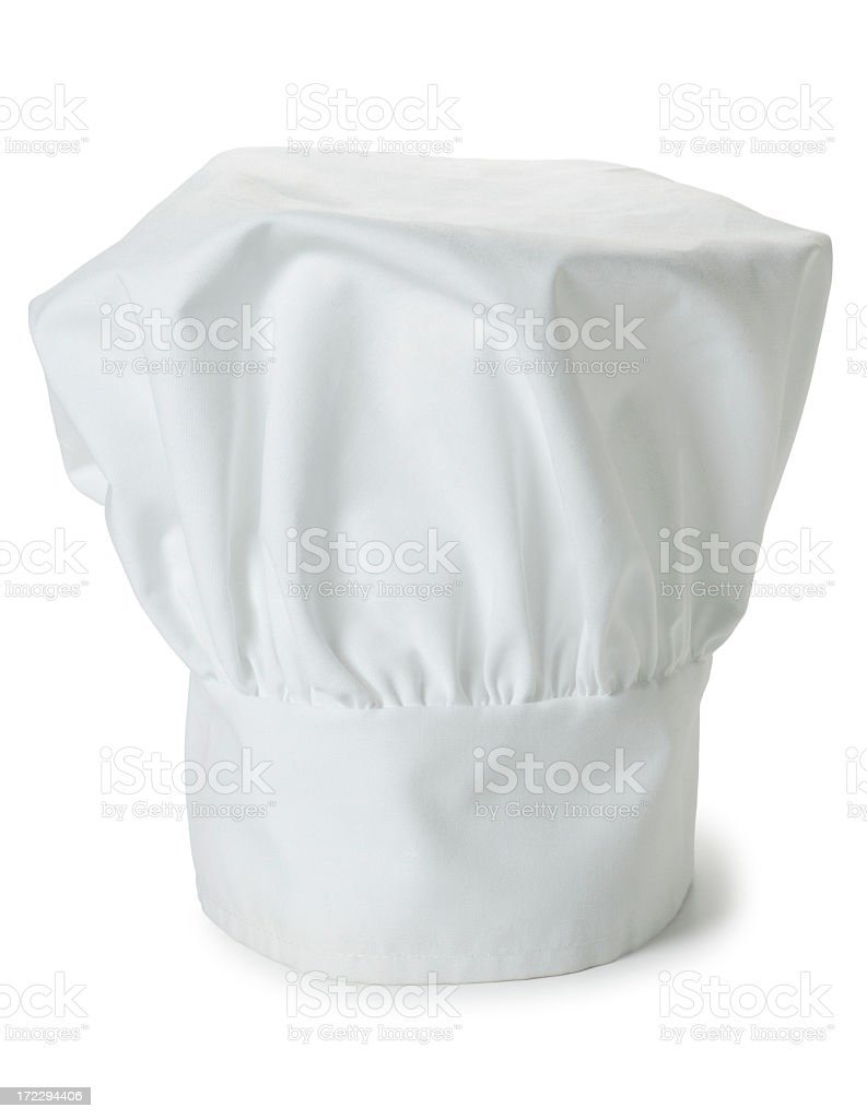 Chef's Hat Isolated on White Background stock photo