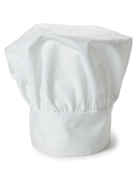 Chef's Hat Isolated on White Background A white chef's hat isolated on white background. chef's hat stock pictures, royalty-free photos & images