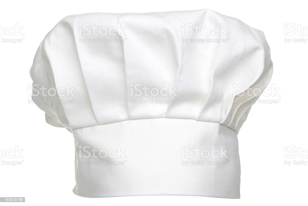 Chefs hat isolated stock photo