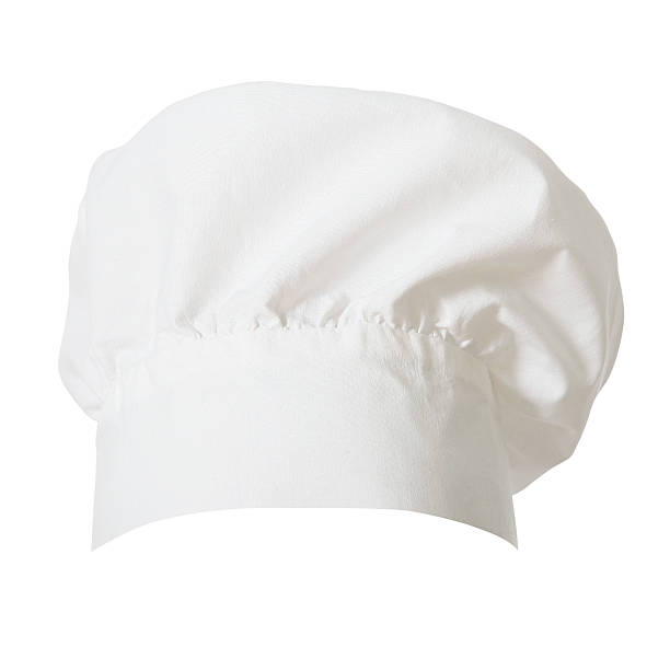 Chef's Hat (clipping path) Chef's Hat cut out on white. Clipping path included. chef's hat stock pictures, royalty-free photos & images